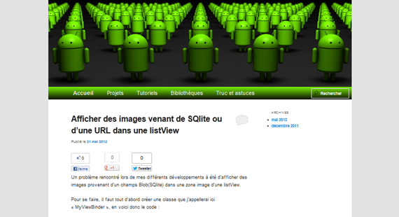 applications, android, changement vue android, listview image SQLite web